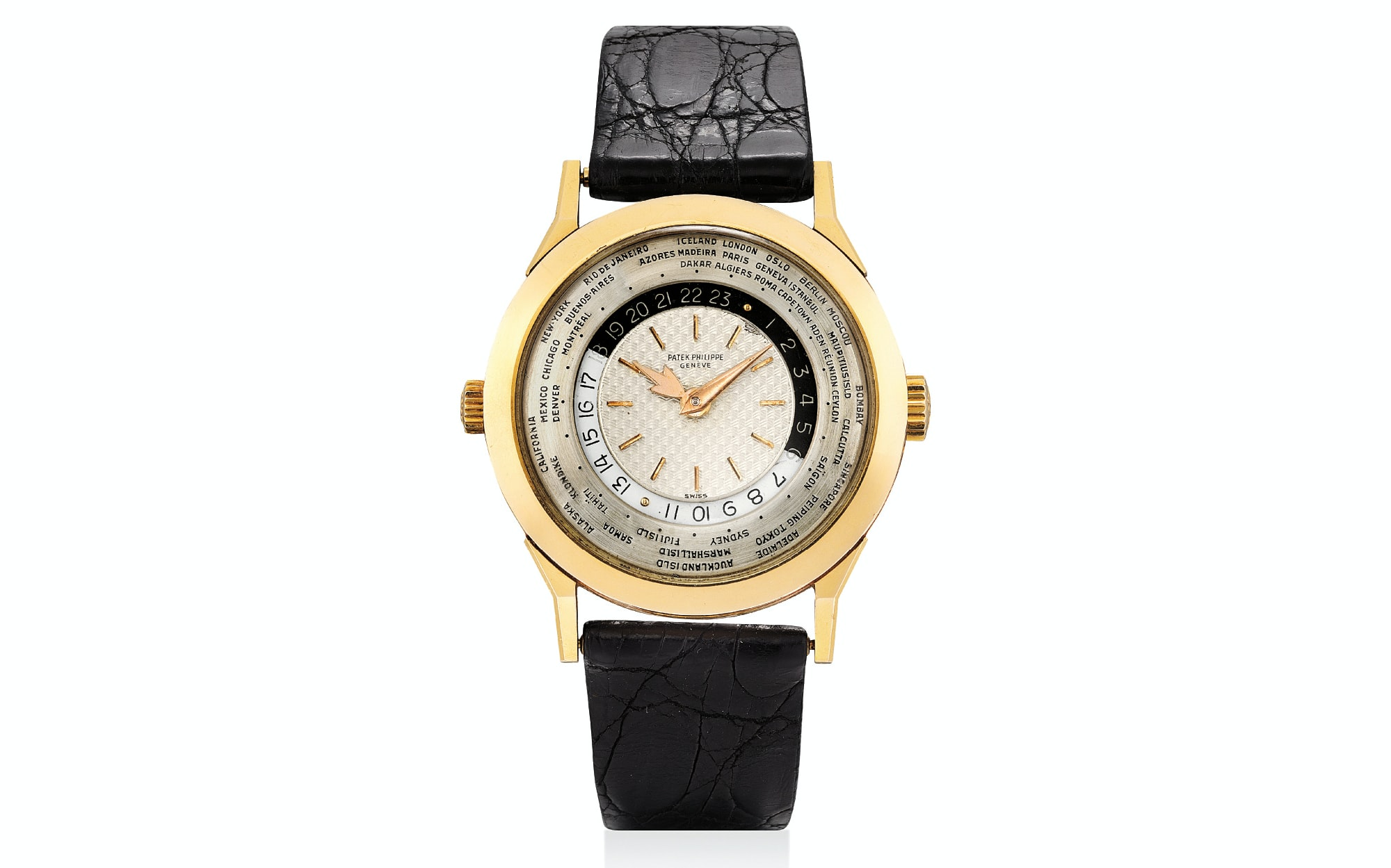 Lot 373 - Patek Philippe Two-Crown World Timer Ref. 2523/1 in Pink Gold.  A Look At The Highlights Of The Phillips Hong Kong Watch Auction: Two A Look At The Highlights Of The Phillips Hong Kong Watch Auction: Two Untitled 1