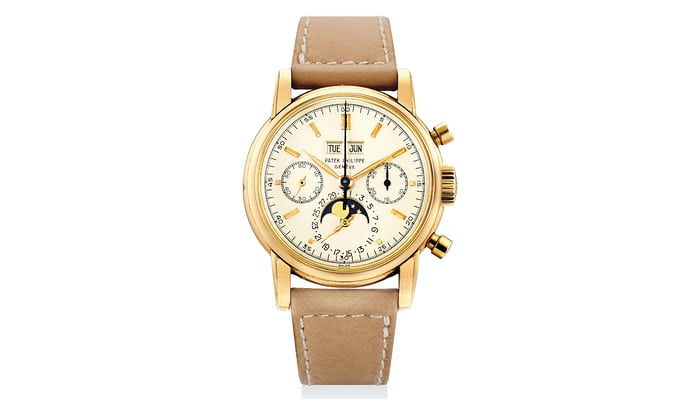 Lot 368 - Patek Phillipe Ref. 2499, in Pink Gold (one of six ever made).