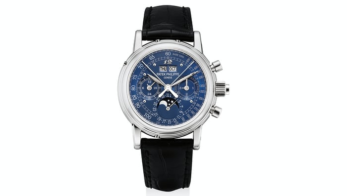 Lot 169 - Patek Philippe platinum Ref. 5004, formerly in the collection of Sir Eric Clapton