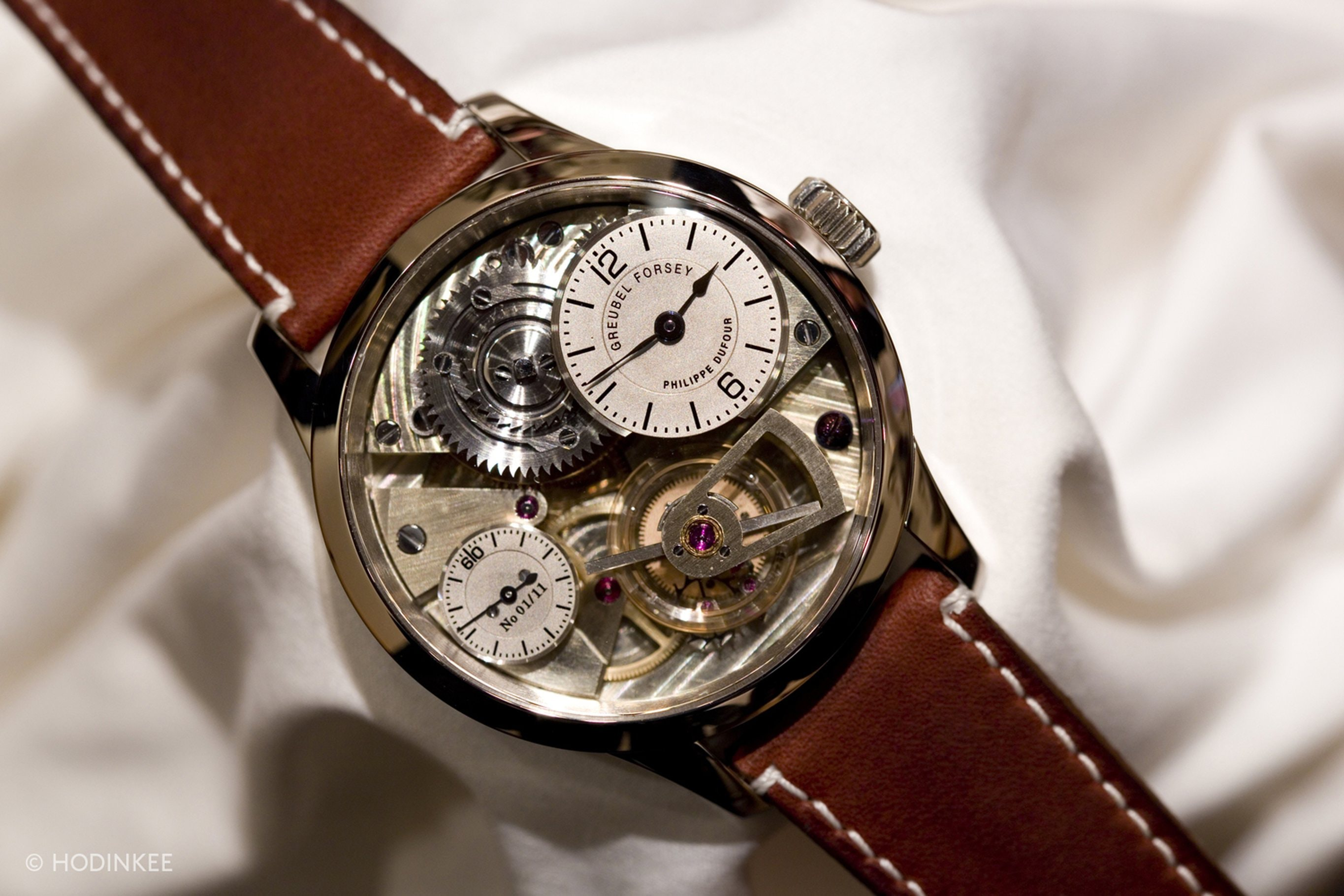 Naissance d'une Montre Prototype From Greubel Forsey, Philippe Dufour, And Michel Boulanger Sells For $1.46 Million At Christie's Hong Kong Naissance d'une Montre Prototype From Greubel Forsey, Philippe Dufour, And Michel Boulanger Sells For $1.46 Million At Christie's Hong Kong  img