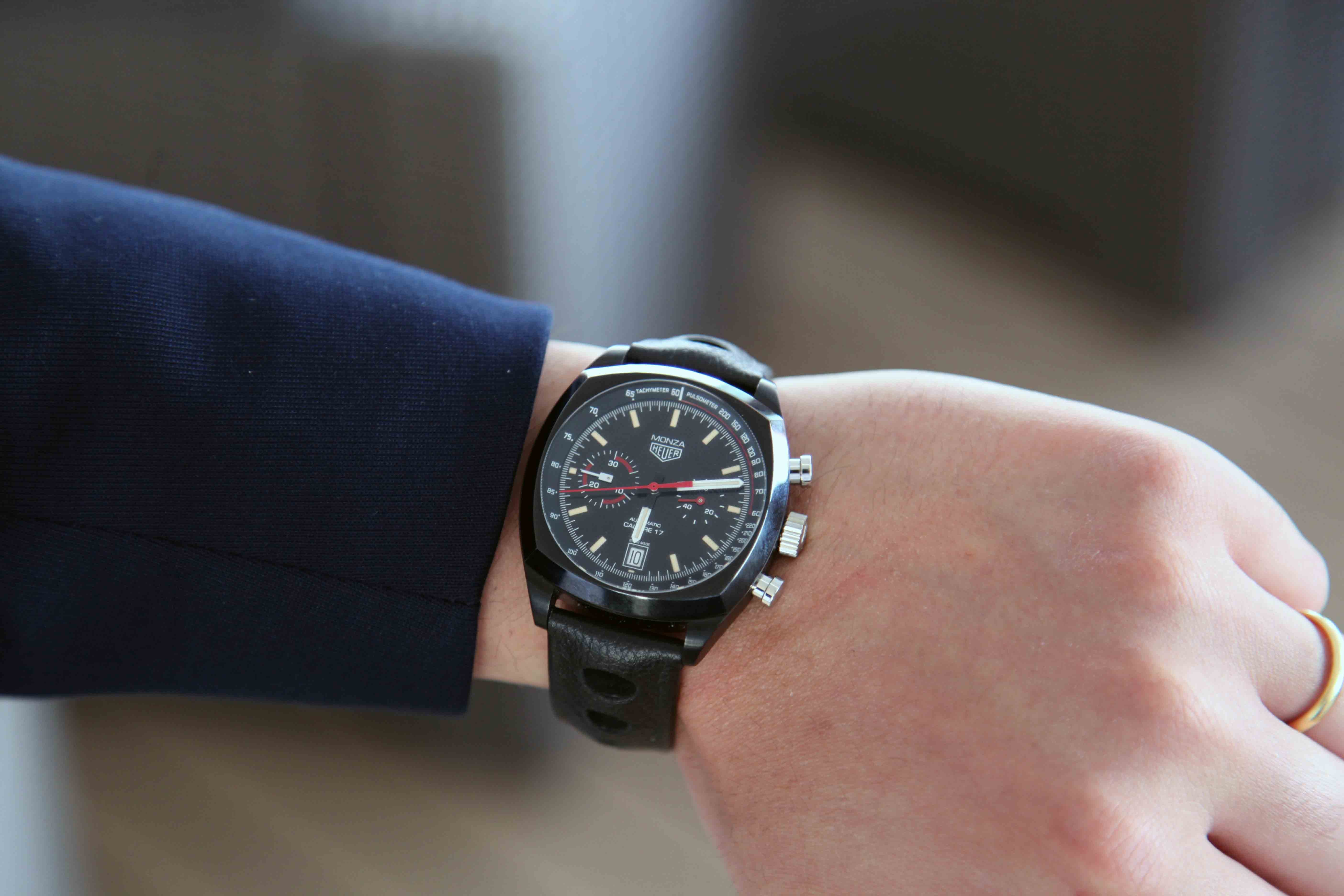 The new look Tag Heuer Monza.  Photo Report: Behind The Scenes At The Monaco Grand Prix 2016 With TAG Heuer CEO Jean-Claude Biver Photo Report: Behind The Scenes At The Monaco Grand Prix 2016 With TAG Heuer CEO Jean-Claude Biver IMG 0687