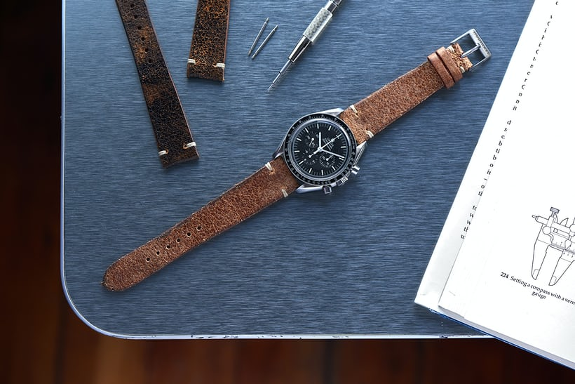 The customer favorite HODINKEE Distressed Brown Leather Strap (seen above) will be available at the HODINKEE Pop-Up Shop at Harrods.