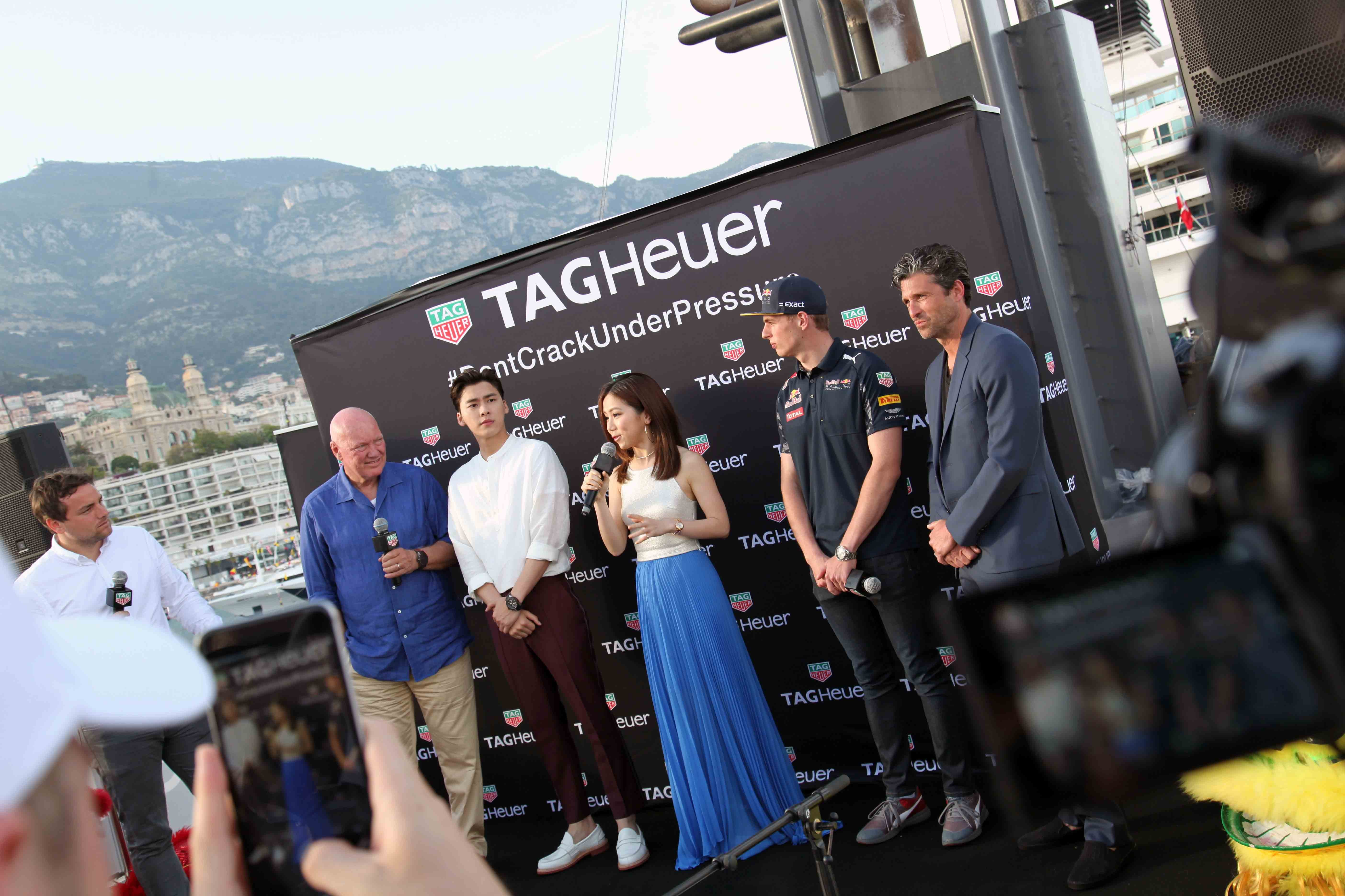 Saturday evening's press conference, on board the yacht.  Photo Report: Behind The Scenes At The Monaco Grand Prix 2016 With TAG Heuer CEO Jean-Claude Biver Photo Report: Behind The Scenes At The Monaco Grand Prix 2016 With TAG Heuer CEO Jean-Claude Biver IMG 0772