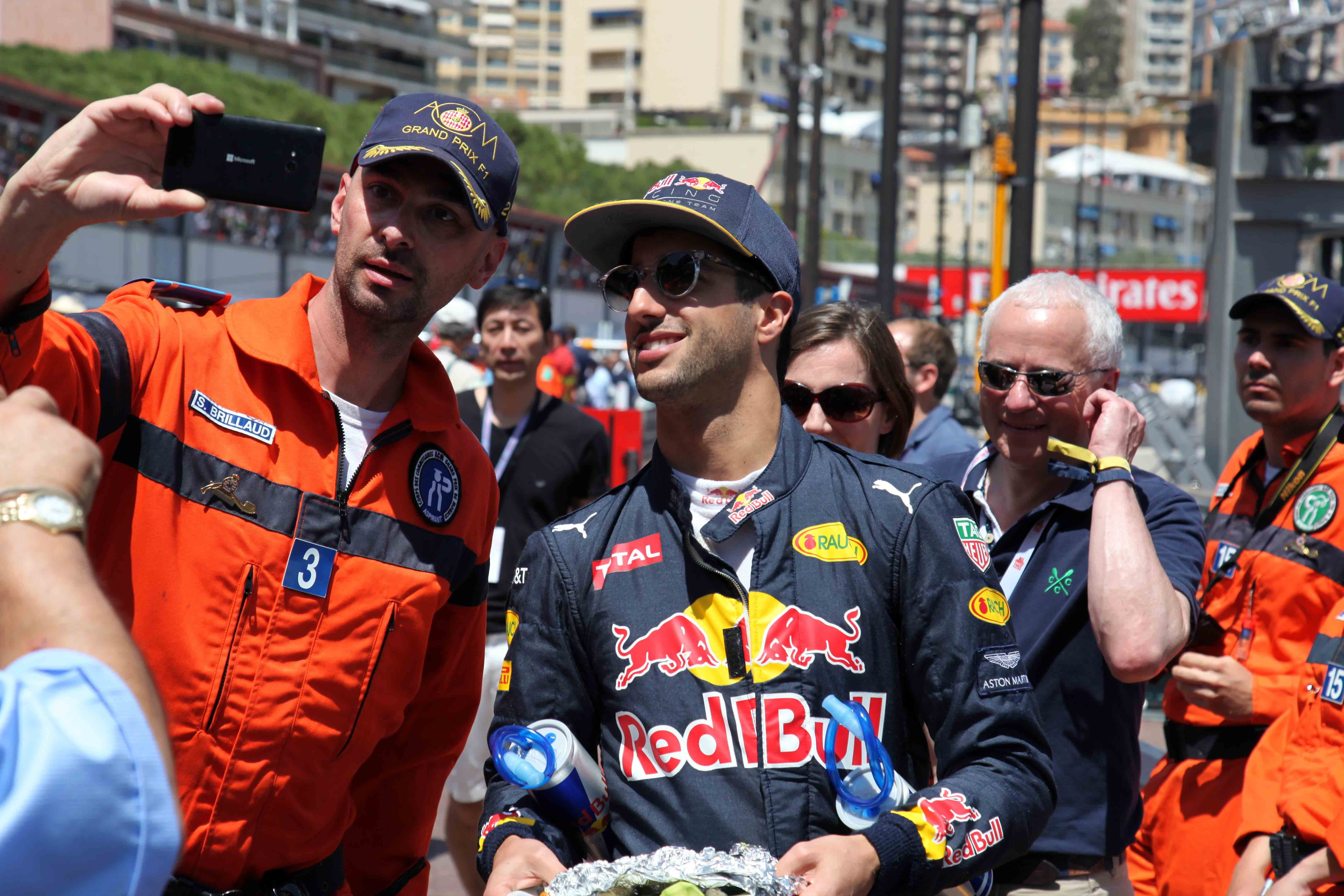 Red Bull Racing driver, Daniel Ricciardo.  Photo Report: Behind The Scenes At The Monaco Grand Prix 2016 With TAG Heuer CEO Jean-Claude Biver Photo Report: Behind The Scenes At The Monaco Grand Prix 2016 With TAG Heuer CEO Jean-Claude Biver IMG 0614