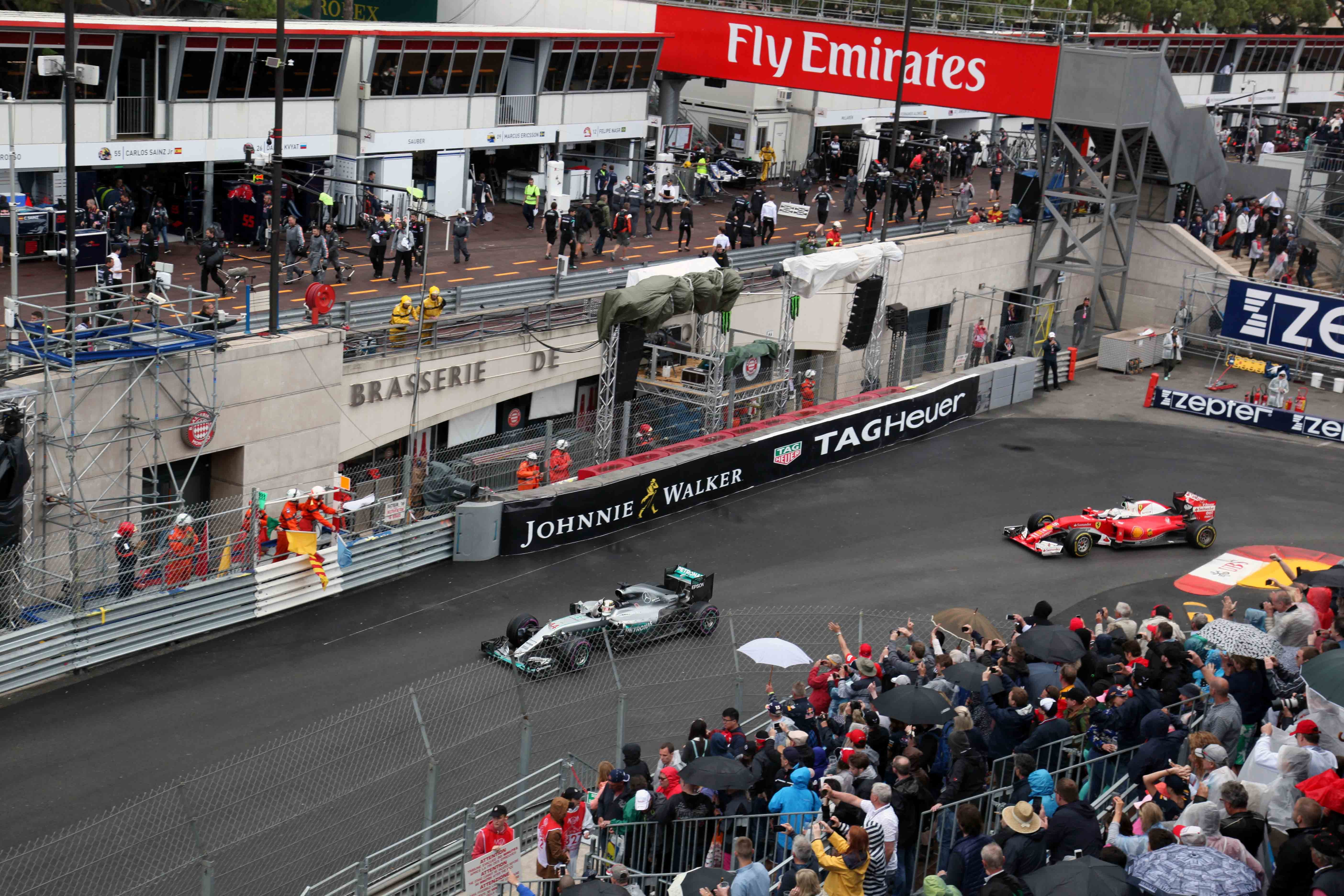 Lewis Hamilton, waving to the crowd during his celebration lap.  Photo Report: Behind The Scenes At The Monaco Grand Prix 2016 With TAG Heuer CEO Jean-Claude Biver Photo Report: Behind The Scenes At The Monaco Grand Prix 2016 With TAG Heuer CEO Jean-Claude Biver IMG 0960