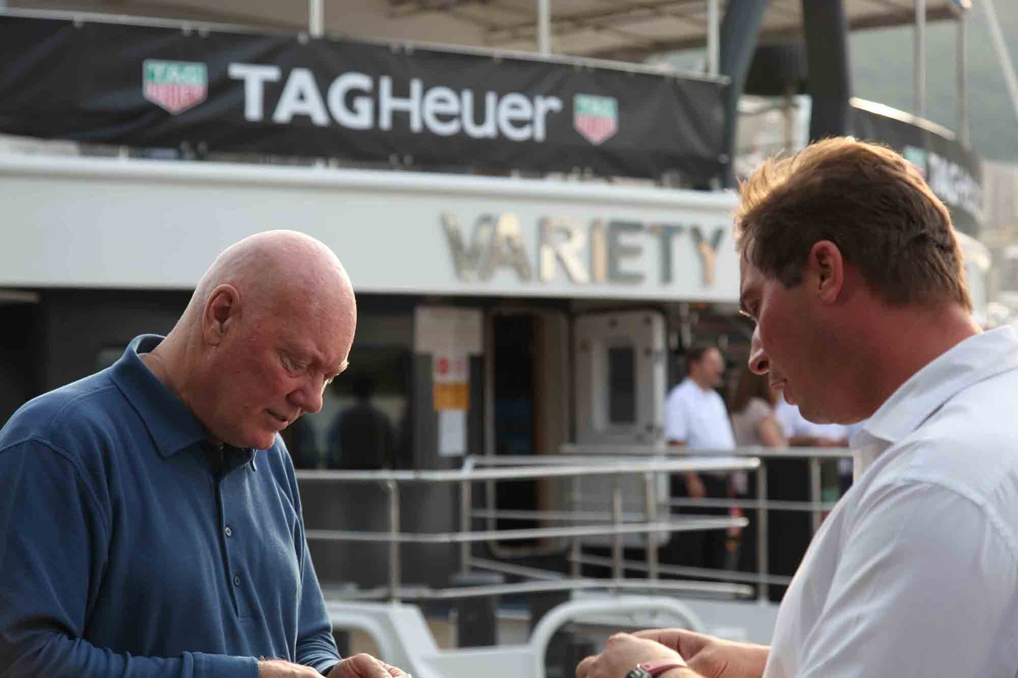 Mr. Biver meeting Jean-Baptiste Trunde. Photo Report: Behind The Scenes At The Monaco Grand Prix 2016 With TAG Heuer CEO Jean-Claude Biver Photo Report: Behind The Scenes At The Monaco Grand Prix 2016 With TAG Heuer CEO Jean-Claude Biver 2