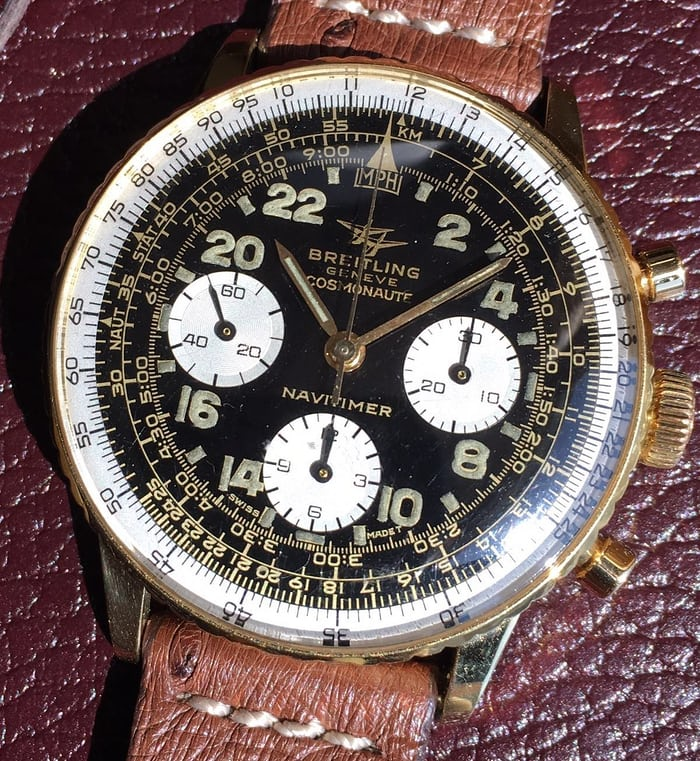 Breitling Cosmonaute Reference 809 Yellow gold