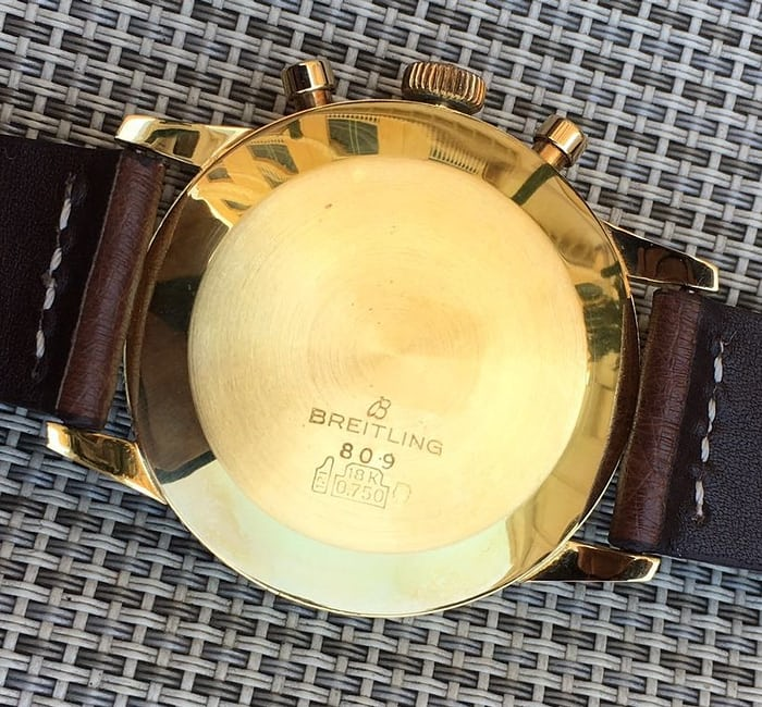 Breitling Cosmonaute 809 yellow gold