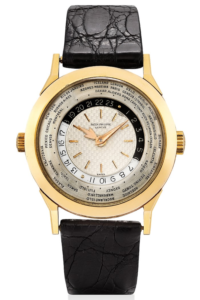 Lot 373 - Patek Philippe Reference 2523/1 World Time.