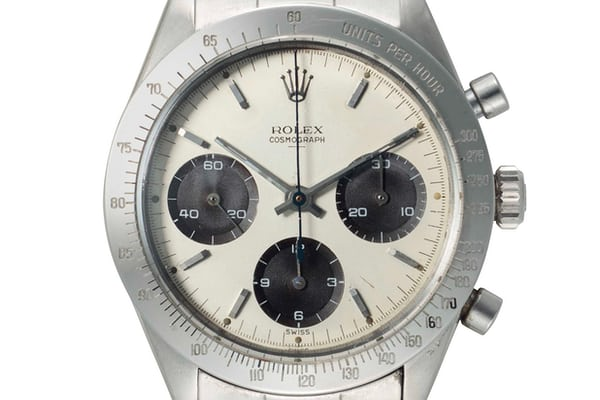 "Lot 141 - Rolex 6239 ""Double Swiss Underline"" with panda dial."
