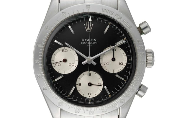 "Lot 142 - Rolex ""Double Swiss Underline"" with black dial."