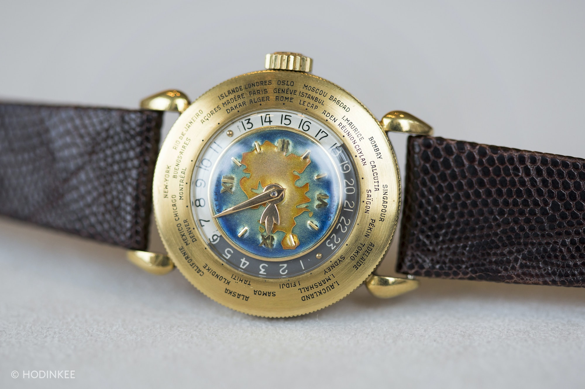 A Patek Philippe Reference 1415 World Timer With Eurasia Enamel Dial, One Of Only Two Known, Coming Up At Sotheby's A Patek Philippe Reference 1415 World Timer With Eurasia Enamel Dial, One Of Only Two Known, Coming Up At Sotheby's 20010111 copy