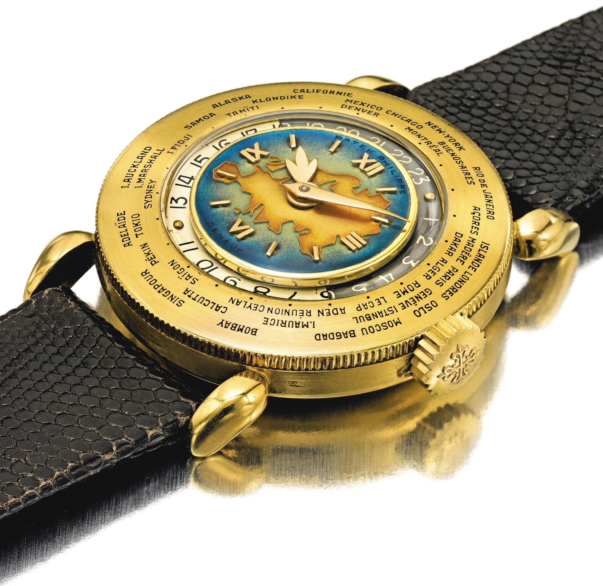 A Patek Philippe Reference 1415 World Timer With Eurasia Enamel Dial, One Of Only Two Known, Coming Up At Sotheby's A Patek Philippe Reference 1415 World Timer With Eurasia Enamel Dial, One Of Only Two Known, Coming Up At Sotheby's 008N09521 8WW5B
