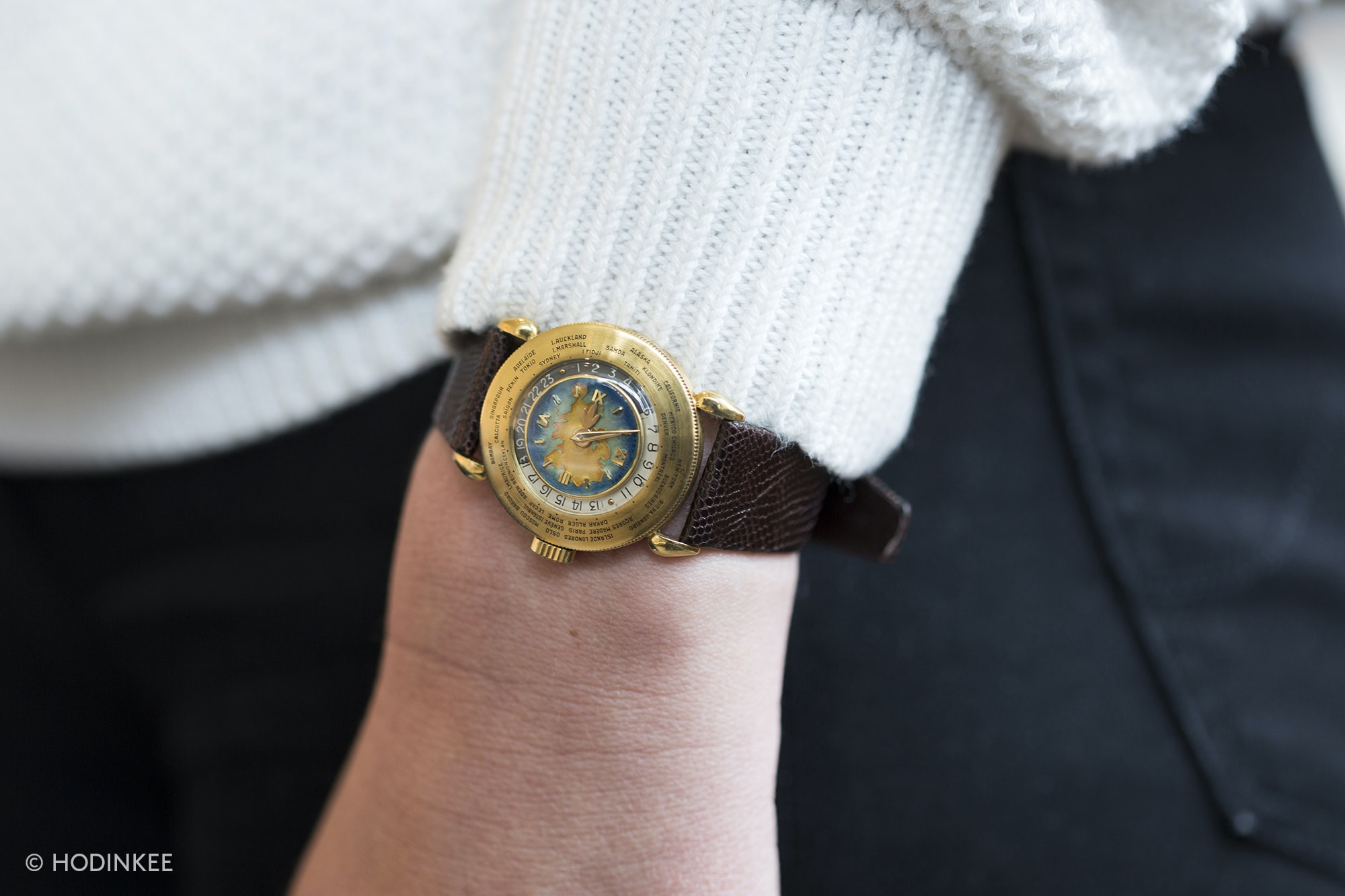 A Patek Philippe Reference 1415 World Timer With Eurasia Enamel Dial, One Of Only Two Known, Coming Up At Sotheby's A Patek Philippe Reference 1415 World Timer With Eurasia Enamel Dial, One Of Only Two Known, Coming Up At Sotheby's 20010124 copy