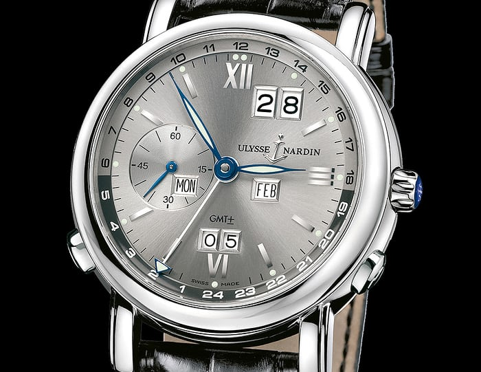 The Ulysse Nardin Quantieme Perpetual (GMT +/-).
