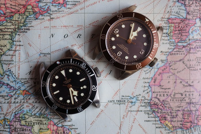 black bay bronze compared to black bay black
