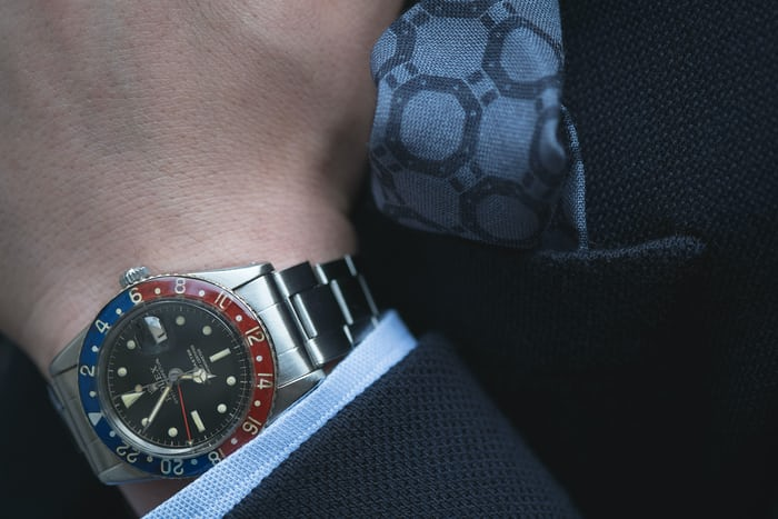 Rolex GMT Ref. 6542 With Bakelite Bezel.