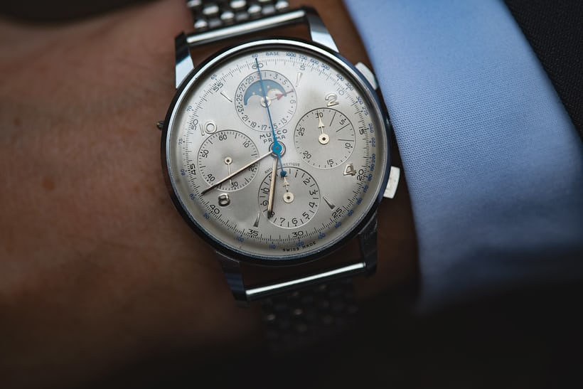 Mulco Chronograph with moonphase, 38mm.