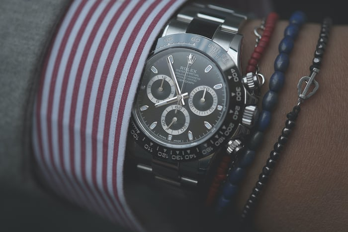 Rolex Daytona Reference 116500LN with black dial.