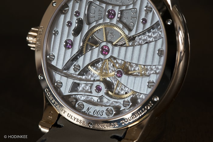 Ulysse Nardin Anchor Tourbillon, movement side
