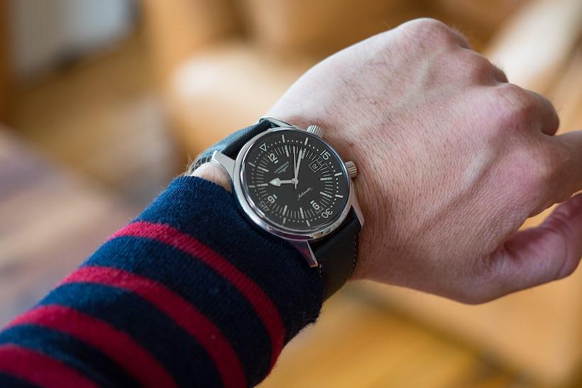 Longines Legend diver wristshot