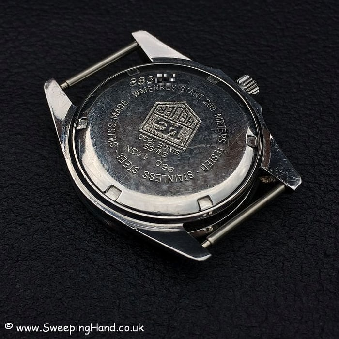 Tag Heuer Marine Nationale engravings