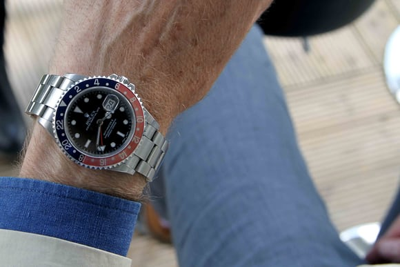 Rolex GMT-Master II with faded bezel.