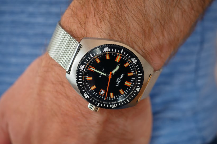 5e3e7a547 ... a yen to look like you're standing on the fantail of Jacques Cousteau's  Calypso circa 1975, I'd drop another €39 on the 18 mm steel mesh bracelet.