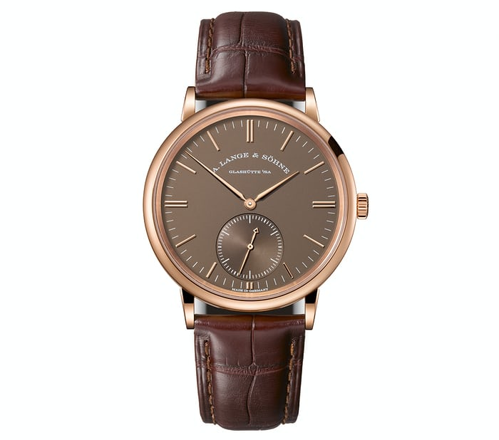 The new A. Lange & Söhne Saxonia Automatic in pink gold.
