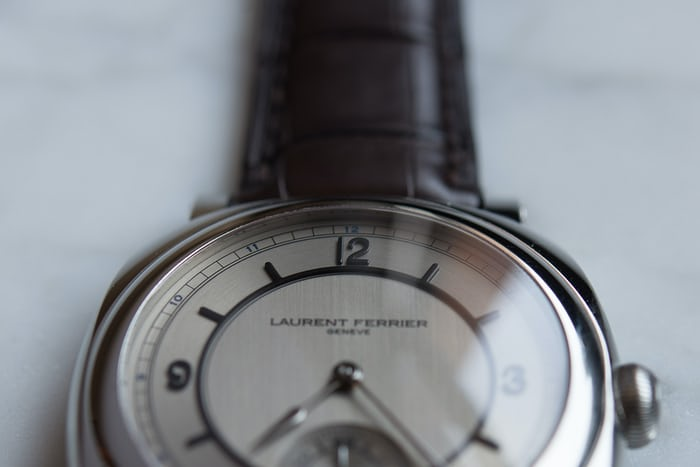 Laurent Ferrier Galet Square Vintage 1 Limited Edition dial closeup