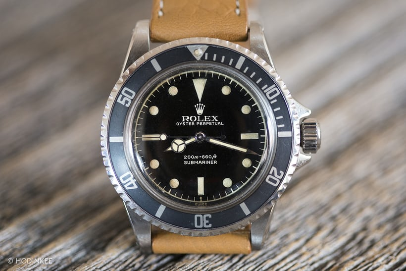 gilt rolex submariner 5513 hodinkee