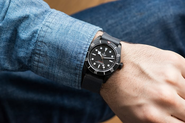 tudor black bay dark wristshot