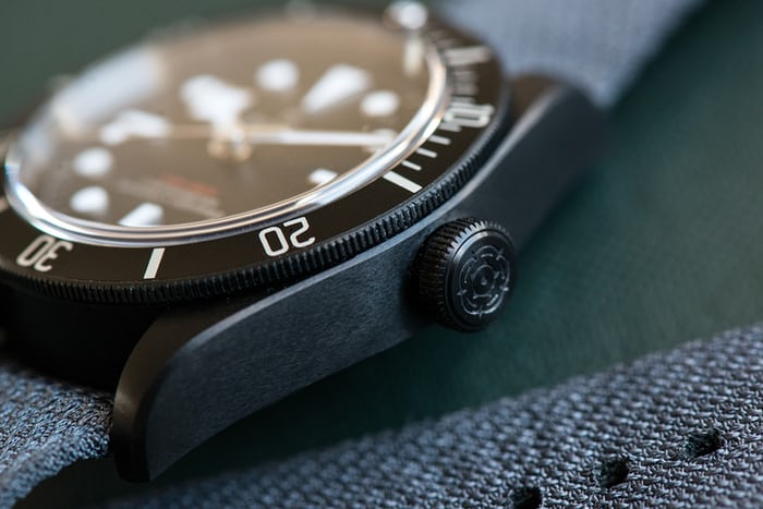 tudor black bay dark detail