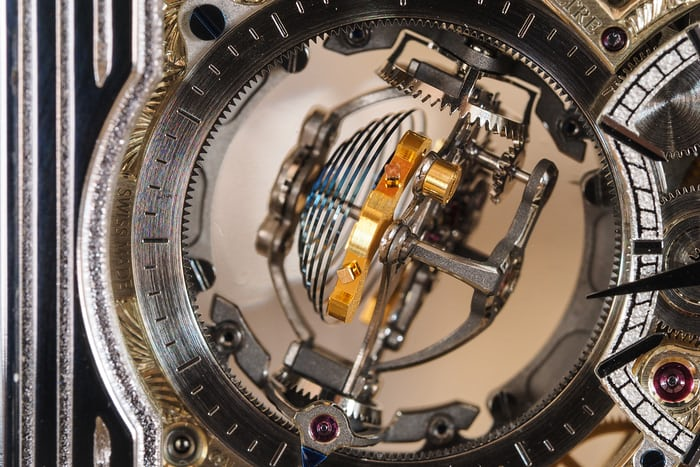Jaeger-LeCoultre Reverso Tribute Gyrotourbillon balance spring and Gyrolab balance