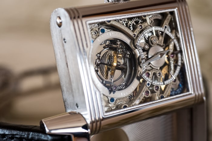 Jaeger-LeCoultre Reverso Tribute Gyrotourbillon engraved bridges