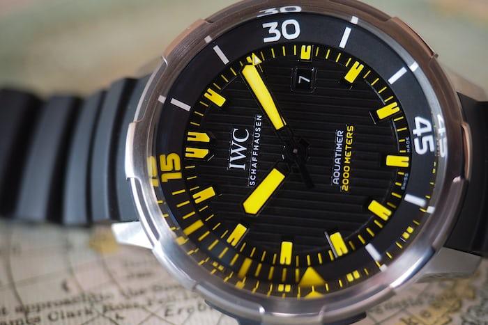 IWC Automatic Aquatimer 2,000 Meters Dial