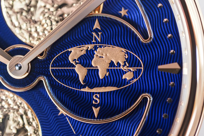 Arnold & Son HM Double Hemisphere Perpetual Moon guilloche