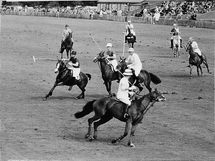 Polo game In Jaipur, India, during the 1930s.