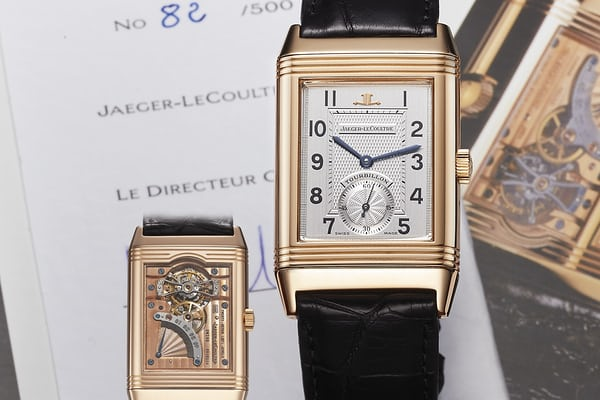 Limited Edition JLC Ref. 270.2.68, Reverso Tourbillon (Photo Credit: Antiquorum).