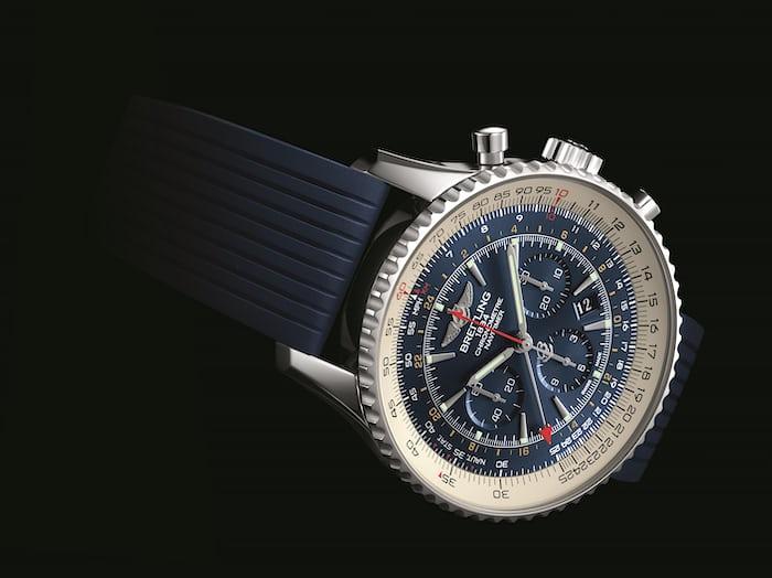 The Breitling Navitimer GMT Aurora Blue