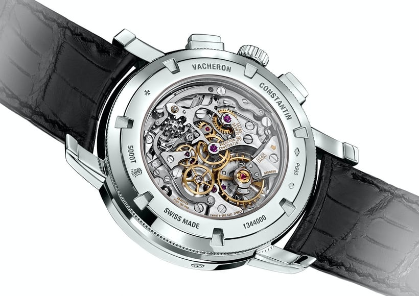 Reference 5000T-00P Vacheron Perpetual chronograph caseback and movement