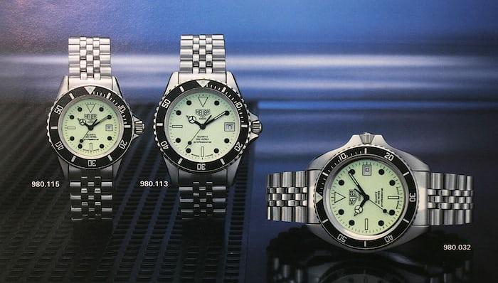 1986 Catalog Heuer lume dial