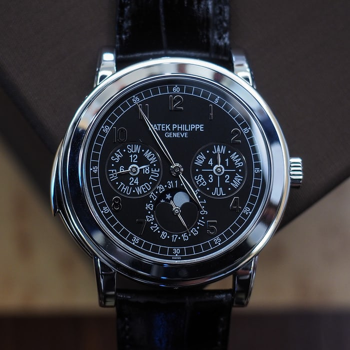 Patek Philippe reference 5074P, perpetual calendar with minute repeater.