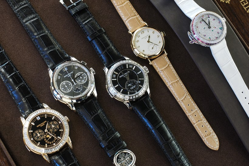 Patek Left to right: the references 5037, 5074, 5307, 700R, and 7002/450G