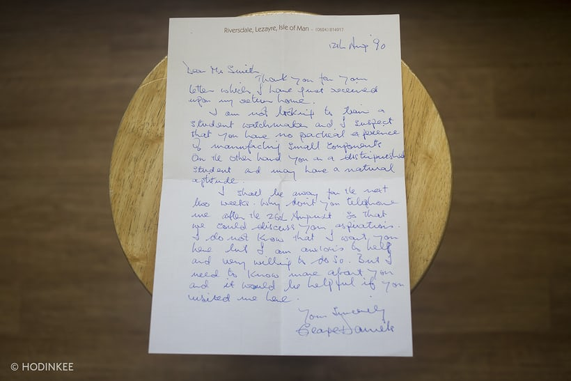george daniels roger smith letter