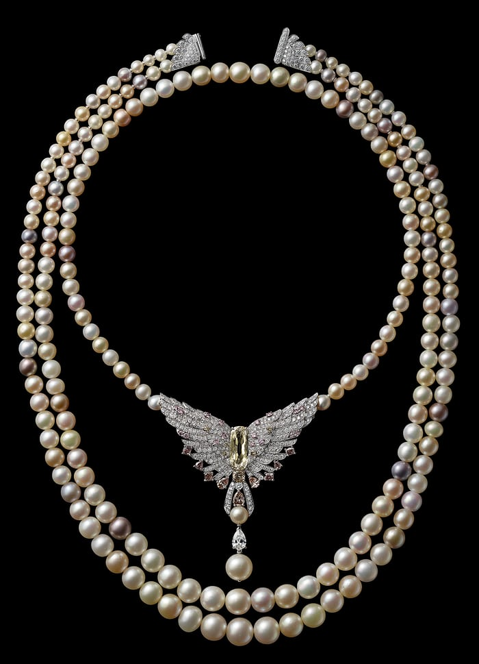 Cartier pearl necklace, 2016, created to celebrate the re-opening of the 653 5th Avenue Mansion