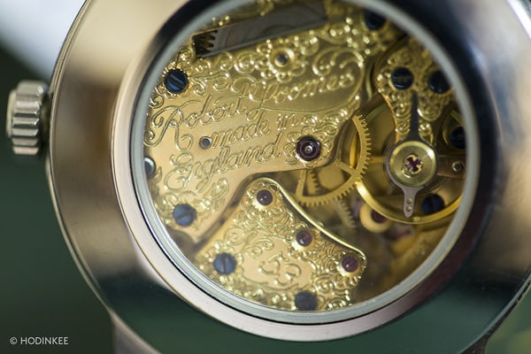 Robert Loomes gold-plated movement
