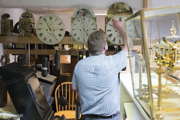 Robert Loomes clock restoration