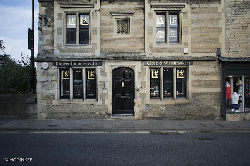 Robert Loomes watchmaking shop
