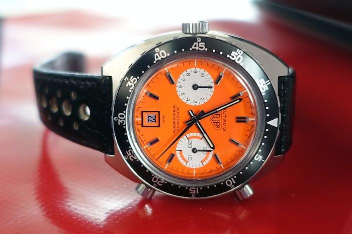Heuer Autavia 1163 Orange Dial